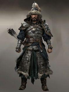 Fantasy Character Design, Character Concept, Character Art, Fantasy Armor, Medieval Fantasy, Dnd Characters, Fantasy Characters, Chinese Armor, Ghost Of Tsushima