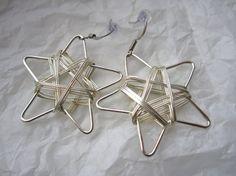 Wirewrap Star Earrings by WistfulWhimsyDesigns on Etsy, $3.00