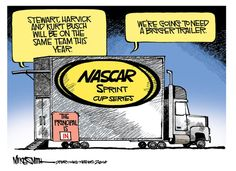 Stewart-Haas Racing could keep the NASCAR hauler crowded in 2014. (Mike Smith/SN)