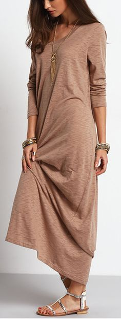 Casual style maxi dress, the fabric is very comfortable to wear. Only $14.99.