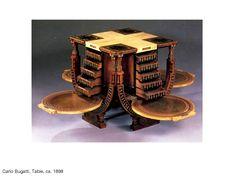 Carlo Bugatti, Study Table, ca. 1898