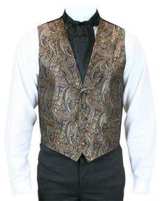 Lombard Silk Vest - Burgundy - Jacques? $72.95 gentleman's emporium
