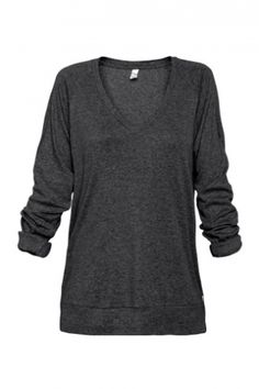 Sooo comfy! The perfect sweater to throw on after a hot yoga class, I just bought this in a dreamy greenish color!