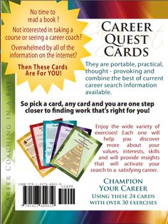 A handy set of cards adapted by Halimah Bellows, MA, MS, a career development professional, to give you the tools and confidence to find your next satisfying career. What Makes You Happy, Are You Happy, Career Assessment, Career Search, I Really Appreciate, Career Change, Career Development, Fun Workouts, Get Started