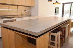 Billedresultat for plywood concrete kitchen