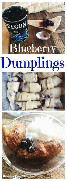 Blueberry Dumplings Recipe at ReluctantEntertainer.com