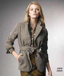 L.L. Bean Signature Wool Tweed Hacking Jacket