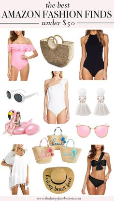 From affordable swimsuits for women to straw totes and summer clothing, this aff. Affordable Swimsuits, Best Swimsuits, Affordable Fashion, Fashion Blogger Style, Girl Fashion, Hippie Fashion, Fashion Edgy, Boho Hippie, Travel Fashion