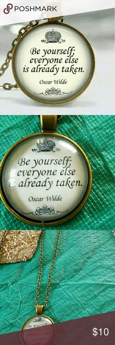 New oscar wilde quote necklace New oscar wilde quote necklace Jewelry Necklaces