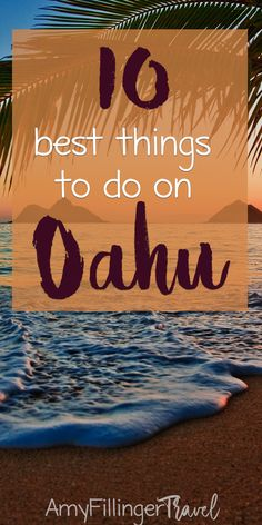 The 10 best things to do in Oahu (by a Hawaii Travel Agent! The 10 best things to do in Oahu. There are so many things to do on Oahu, but these are some of my favorites Hawaii Honeymoon, Hawaii Travel, Hawaii Beach, Mexico Travel, Spain Travel, Italy Travel, Cebu, Phuket, Malta