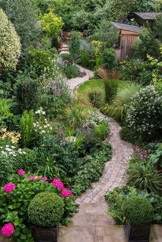 What about a brick path all the way around and no grass in the middle? Some tall plantings to shield views instead.