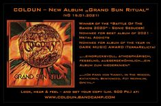 The ATMOSPHERIC PROGRESSIVE METAL of the soulful top experts from the Ore Mountains is once again vocalized in a highly uplifting manner with the absolute grand championship, for which the unmistakably evocative exceptional voice of frontman Coldun stands so uniquely. Man Projects, Album Of The Year, Best Albums, Music Awards, The Voice, Mountains, Metal, Top, Metals
