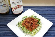 "Raw Zucchini ""Pasta"" with an Olive Tapenade"