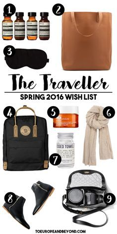 There's only so much space in a suitcase: why not pack fewer, but better travel things this spring with this indulgent and smart list? #travel #shopping
