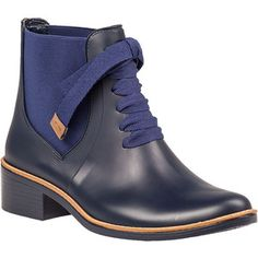 BERNARDO Lacey Rain Boot Navy Rubber