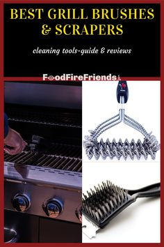 Check out the best grill brushes, scrapers, and cleaners in our helpful buying guide packed full of advice and product reviews, so you get the right tool for your needs. Outdoor Grill Area, Outdoor Grilling, Grill Brush, Brushes, It Cast, Advice, Good Things, Cleaning, Tools