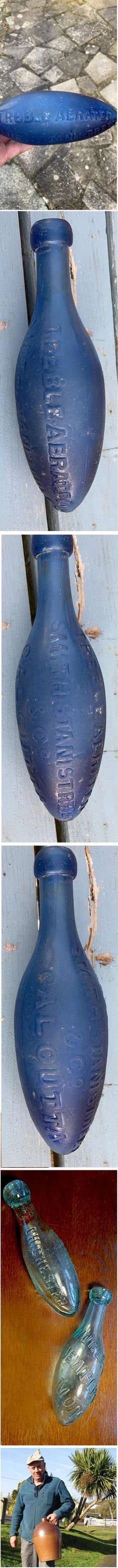 tx for sharing Rusty Anddusty, Old Bottles, Rising Star : WARNING: You may temporarily lose control of your bodily functions when you see this bottle 😲😲😲😲 BLUE 1880/90s Hamilton patent. SMITHTANISTREET & CO • CALCUTTA • TREBLE AERATED Recently recovered from the bottom of the North Sea by the Captain of a dragnet trawler. It will eventually be for sale, but i'll need drool time with it, and any potential suitor will need deep pockets...... 😋😋😋