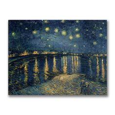 Vincent Van Gogh 'Starry Night Over the Rhone, 1888' Canvas Art | Overstock.com Shopping - The Best Deals on Canvas