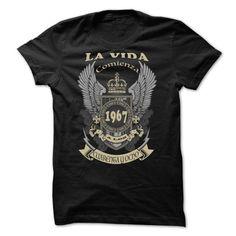 LA VIDA COMIENZA A LOS  48 T-Shirts, Hoodies (22.99$ ==► BUY Now!)