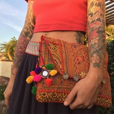 Loving my new purse from @thebohostore Hand-made in India, each one is unique and so beautiful.......Check it out!  @thebohostore