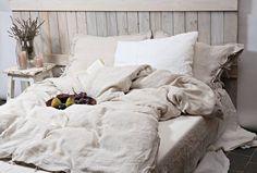 Bettwäsche Bettbezug in natürlichen Leinen Farbe. Handgemacht von LinenSky.