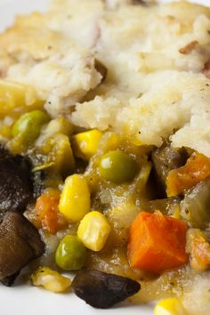 #Meatless Shepherd's Pie with Horseradish and Cheddar Potatoes #Recipe