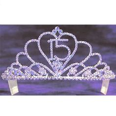 Angels Garment Girls Lavender Rhinestone Heart 15 Quinceanera Tiara -- 24% DISCOUNT for a limited time!
