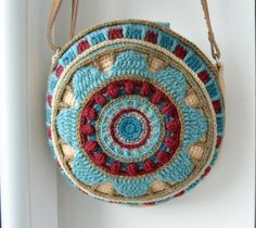 Round Bag crochet pattern overlay and por LillaBjornCrochet