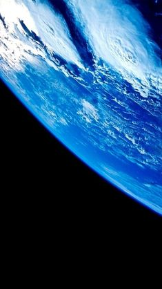 Our Blue Planet Earth - as seen from Outer Space   with cloud formations
