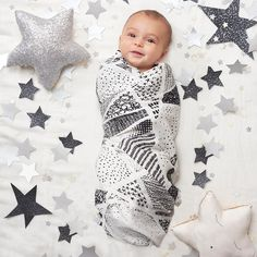 Sweet dreams come easy for your little star with our silky soft muslin baby swaddle blankets.
