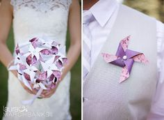 Pinwheel Bouquet and Boutonniere by Rule42 by Rule42 on Etsy
