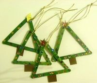 popsicle Christmas tree triangle