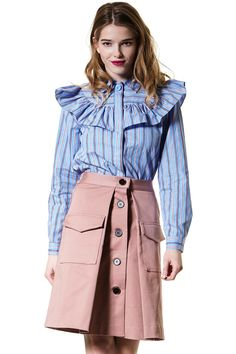 High Society Striped Shirt Discover the latest fashion trends online at storets.com