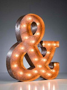 "Vintage Marquee Lights - Vintage Marquee Lights-Ampersand ""&"" Sign 