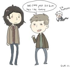 BAHAHAHA oh man. Danny Phantom with the Winchesters. And Sam's hair, can we just acknowledge Sam's hair here, please? :P
