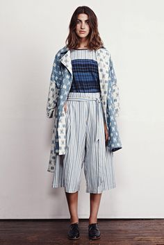 Ace & Jig Spring 2015 Ready-to-Wear  Inspiration: beach pajamas craze of the '20s;  bold nautical stripes, big belts to be casually knotted, sailor pants with suspenders