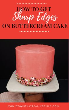 How to Frosting a Cake with Sharp Edges using Buttercream - Wow! Is that really edible? Custom Cakes+ Cake Decorating Tutorials Creative Cake Decorating, Cake Decorating Techniques, Cake Decorating Tutorials, Creative Cakes, Decorating Ideas, Decorating Cakes, Decor Ideas, Cake Icing, Fondant Cakes