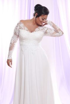 Get long sleeve plus size lace wedding dresses that you can have customized in any way you want.