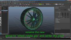 Wheel rigging in MAYA 2014 the best solution in 10 mn