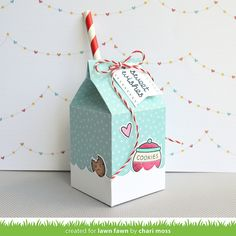 Lawn Fawn Intro: Milk Carton and Stitched Borders