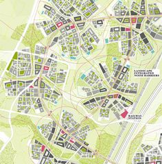 SYMBIOSIS, SELF-SUFFICIENT TOWN FOR 20000 PEOPLE AT HENNA, FINLAND Landscape Diagram, Landscape And Urbanism, Landscape Concept, Landscape Plans, Urban Landscape, Urban Design Diagram, Urban Design Plan, Architecture Drawings, Concept Architecture