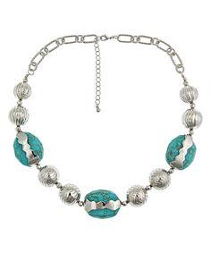Blu Bijoux Turquoise Resin Bead Necklace