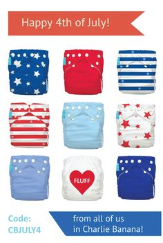 4th of July celebration starts now here at #charliebanana!  SAVE 25% on all items with code CBJULY4 (for USA only, valid date from 3rd to 6th of July 2015). #4thofJuly #clothdiaper