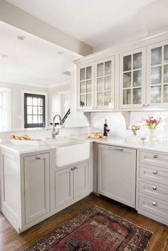 123 cozy and chic farmhouse kitchen cabinets ideas (61)
