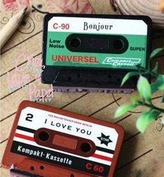 ENVÍO GRATIS! Sellos de Cassette Vintage que marcan frases de CintaLapizyPapel en Etsy