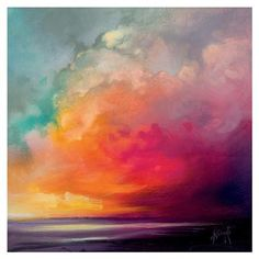ACHICA | The Art Group - Scott Naismith (Sunset Cumulus) , Canvas Print, 85x85cm #abstractart