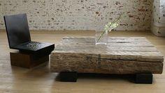 chunky wood cooffee table