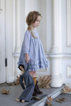 New fall girls dresses. Girls Fall Dresses, Little Girl Dresses, Toddler Dress, Baby Dress, Ruffle Dress, Little Girl Fashion, Kids Fashion, Oldschool, Inspiration Mode