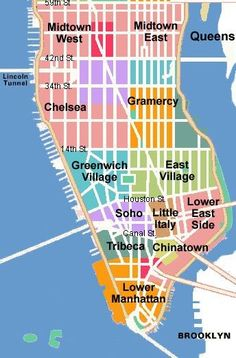 Lower Manhattan NYC Lower Financial District Battery Park - Lower manhattan us map