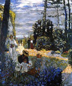 Edouard Vuillard - The Terrace at Vasouy, The Garden, 1901